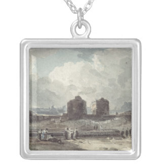 Coast Scene Silver Plated Necklace