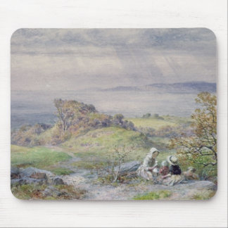 Coast Scene with Children in the Foreground Mouse Mat
