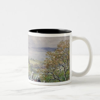 Coast Scene with Children in the Foreground Two-Tone Coffee Mug