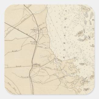 Coast section Barnegat Bay to Tuckerton Chart Map Square Sticker