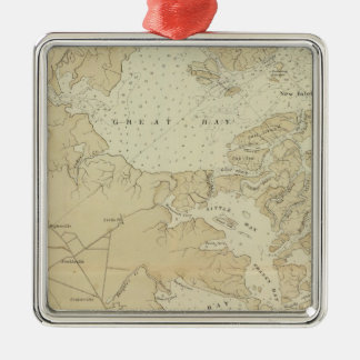 Coast section Tuckerton to Absecon Beach Chart Map Christmas Ornament