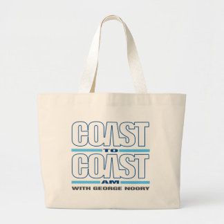 Coast To Coast AM Large Tote Bag