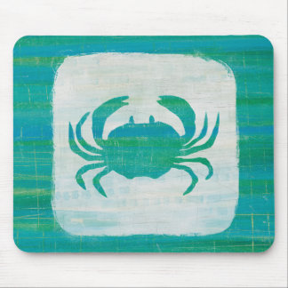 Coastal | Aqua Crab Mouse Mat