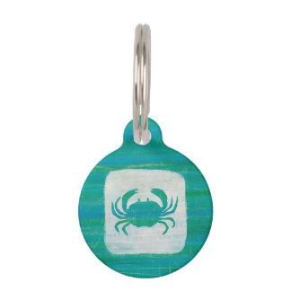 Coastal | Aqua Crab Pet Name Tag