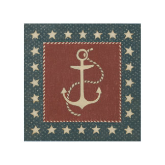 Coastal Art | Anchor on Red
