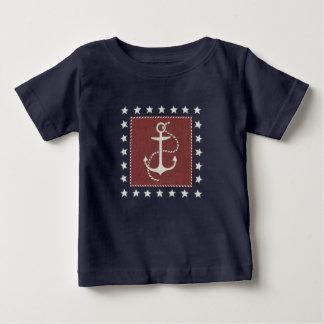 Coastal Art   Anchor on Red Baby T-Shirt