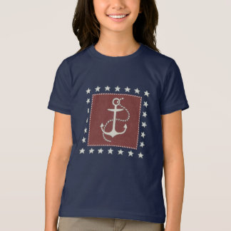 Coastal Art | Anchor on Red T-Shirt