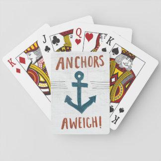 Coastal Art   Anchors Away Playing Cards