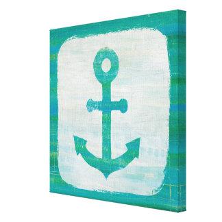 Coastal Art | Aqua Anchor Canvas Print