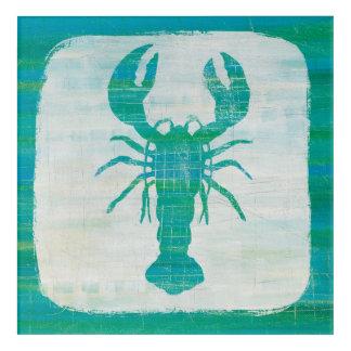 Coastal Art | Aqua Lobster