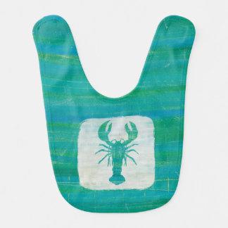 Coastal Art | Aqua Lobster Bib