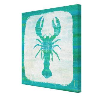 Coastal Art | Aqua Lobster Canvas Print