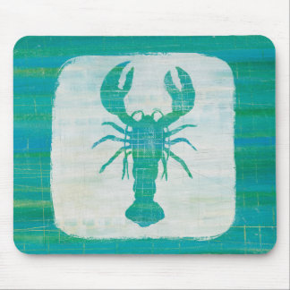 Coastal Art | Aqua Lobster Mouse Mat