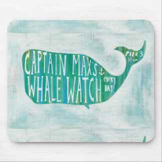 Coastal Art | Captain Max's Whale Watch Mouse Mat