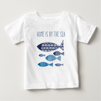 Coastal Art | Home is By the Sea Baby T-Shirt
