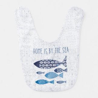 Coastal Art | Home is By the Sea Bib