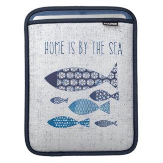 Coastal Art   Home is By the Sea iPad Sleeve