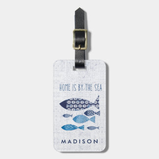 Coastal Art | Home is By the Sea Luggage Tag