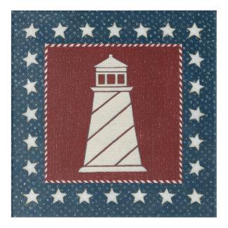 Coastal Art | Lighthouse on Red