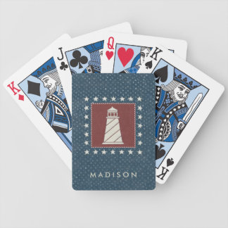 Coastal Art   Lighthouse on Red Bicycle Playing Cards