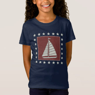 Coastal Art | Sailboat on Red T-Shirt