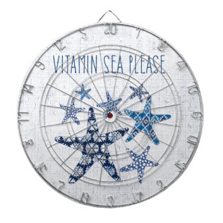 Coastal Art   Vitamin Sea Please Dartboard