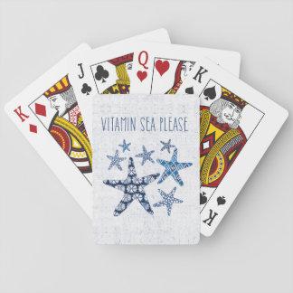 Coastal Art   Vitamin Sea Please Playing Cards