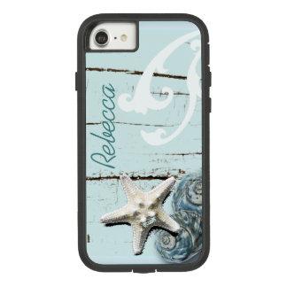 Coastal barn wood aqua blue starfish seashells Case-Mate tough extreme iPhone 8/7 case