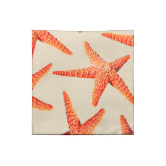 Coastal Beach Style Red Starfish Napkin