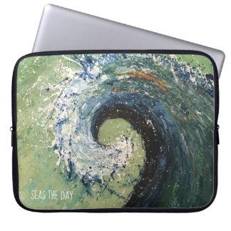 Coastal Beach Wave Abstract Art Laptop Sleeve