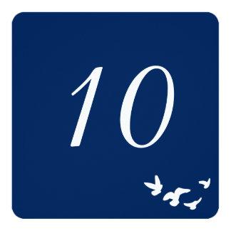 Coastal Birds Wedding | Table Number Card