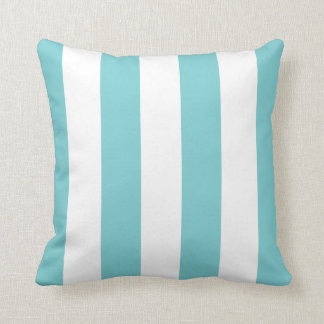 Coastal Blue Awning Stripe Cushion