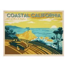 Coastal California Postcard at Zazzle