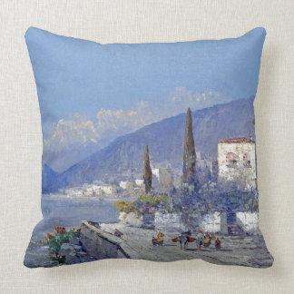Coastal Capri Italy Flowers Charm Throw Pillow