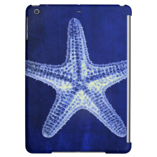 coastal chic beach rustic nautical blue starfish