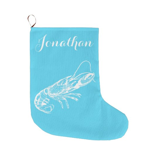 Coastal Christmas Lobster Stocking