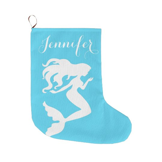Coastal Christmas Mermaid Stocking
