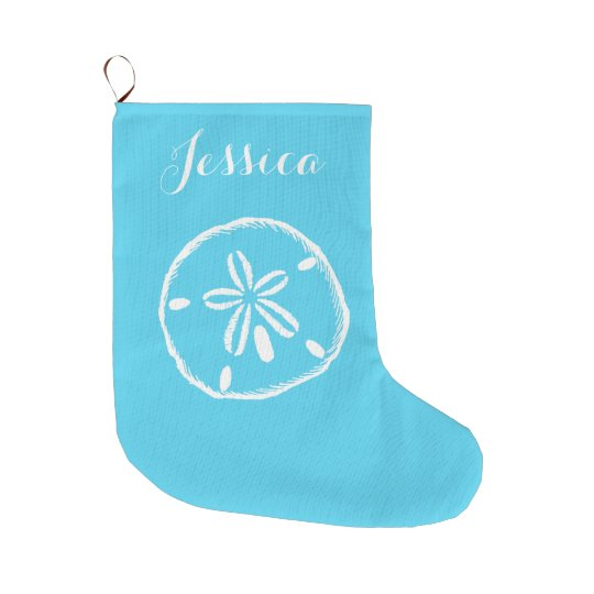 Coastal Christmas Sand Dollar Stocking