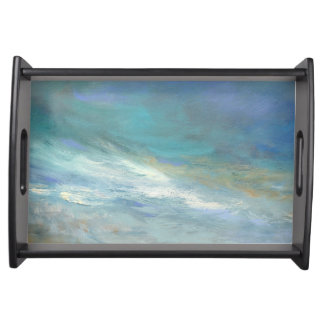 Coastal Clouds Serving Tray
