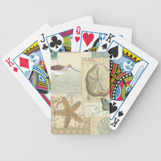 Coastal Collage Bicycle Playing Cards