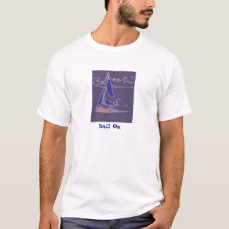 Coastal Dinghy Sailing - abstract boat design T-Shirt