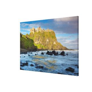 Coastal Dunluce castle, Ireland Canvas Prints