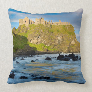 Coastal Dunluce castle, Ireland Cushion