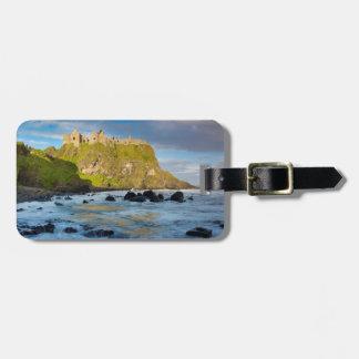 Coastal Dunluce castle, Ireland Luggage Tag