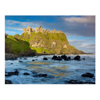 Coastal Dunluce castle, Ireland Postcard
