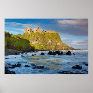 Coastal Dunluce castle, Ireland Poster
