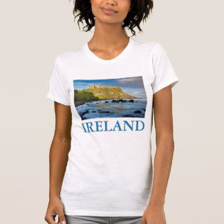 Coastal Dunluce castle, Ireland T-Shirt