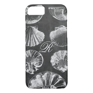 coastal french botanical art chalkboard seashells iPhone 8/7 case