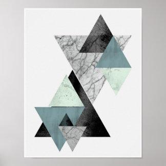 Coastal Hues triangle art print