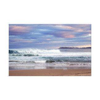 Coastal Image Digitally Edited on Canvas
